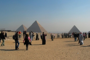 ancient pyramids that surround Cairo