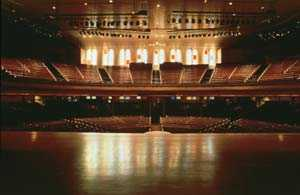 The view from the stage at Ryman Auditoium