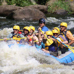 Whitewater Rafting, Zipline & Ropes Challenge Course