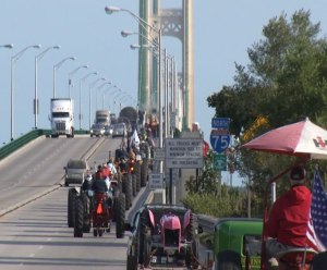 Antique Tractors Mackinac Bridge Crossing Parade